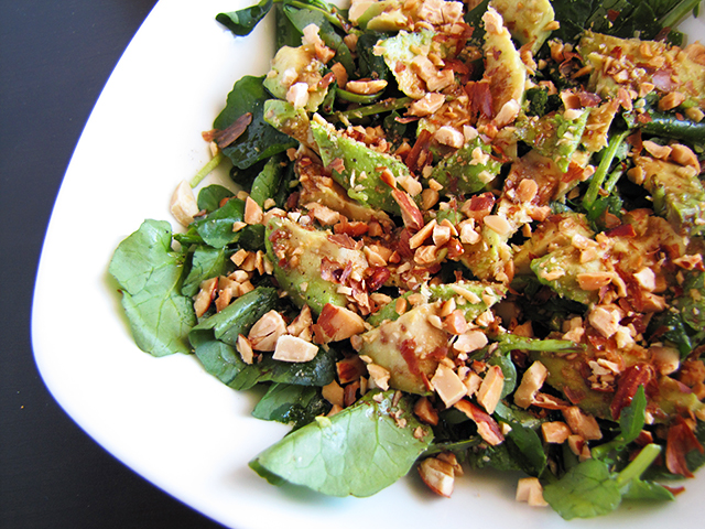 Watercress, Avocado and Almonds Salad With Sweet Balsamic Dressing ...