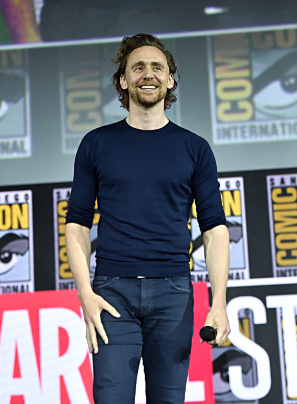 SAN DIEGO, CALIFORNIA - JULY 20: Tom Hiddleston of Marvel Studios' 'Loki' at the San Diego Comic-Con International 2019 Marvel Studios Panel in Hall H on July 20, 2019 in San Diego, California.